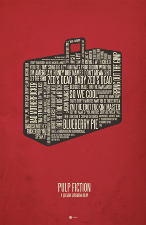 ... poster typographical poster art made up entirely of movie quotes