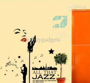 Marilyn Monroe All That Jazz Singer Wall Quote Vinyl Decal Murals Wall ...