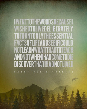 ... 12.99! Henry David Thoreau – I went to the woods... [No.2] Hiking