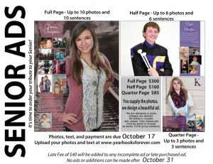 senior yearbook ads from parents