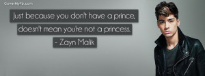 Zayn Malik Quote Facebook Cover