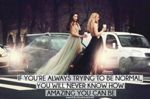 ... dresses #fabulous #walk #starbucks #blonde #brunette #friend #quote