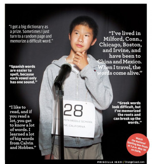 ... middle school wordmeister, on getting to the national spelling bee