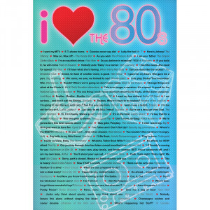 Title: I Love the 80s Greatest Quotes Movie Poster Print
