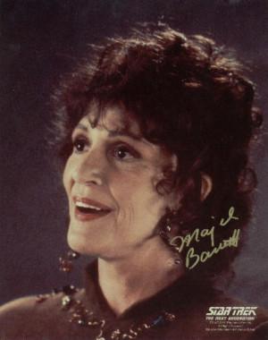 Majel Barrett Lwaxana Troi...