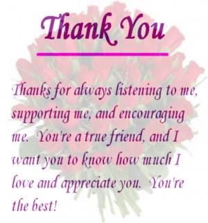 Send this rosy thank you ecard to your friend.