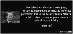 ... Labour's economic policies were a national security liability. - Liam