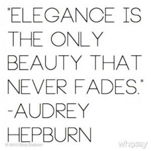 Classy Lady Quote of the Day...