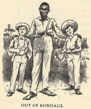 Huckleberry Finn And Jim 1885 huck finn illustration