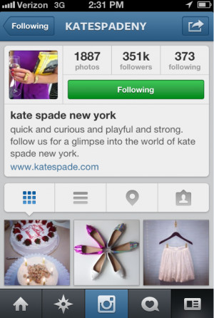 Quotes For Instagram Bio Yahoo Answers ~ Instagram-Kate-Spade-New-York ...