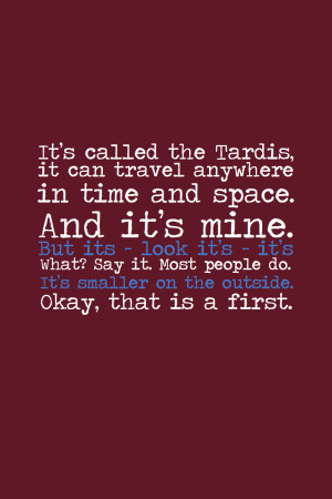 Doctor Who Quotes About Life Spoiler - tardis by