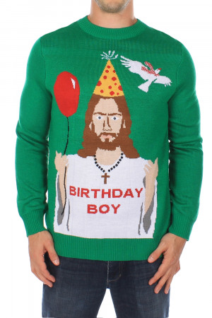 Men's Happy Birthday Jesus Sweater