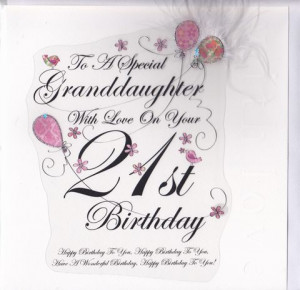 Granddaughter,21st,Birthday,Card,-,Large,,Luxury,buy granddaughter ...