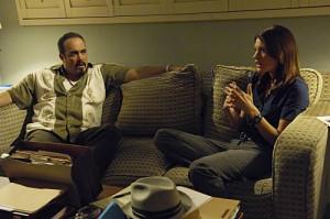 Still of David Zayas and Jennifer Carpenter in Dexter (2006)