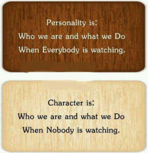 Personality vs. character