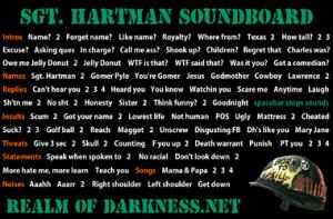Sgt. Hartman Soundboards: Full Metal Jacket