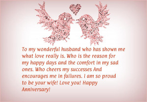 Marriage anniversary quotes for husband from wife