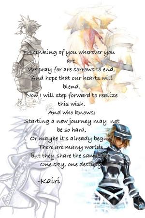 Kingdom Hearts Kairi Quotes