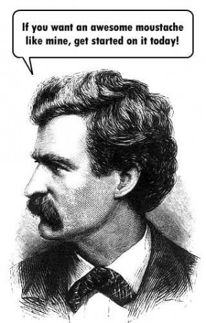 mark twain mustache | Mark Twain and his awesome moustache