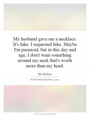 Rita Rudner Quotes Jewelry Quotes