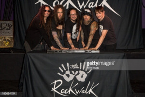 Korn Induction Ceremony Into Guitar Center 39 s RockWalk News Photo