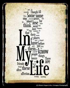beatles quotes about life in my life lyrics quote by the