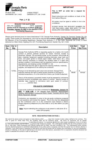 Janitorial Cleaning Quotation Sample Forms - PDF by upn57579