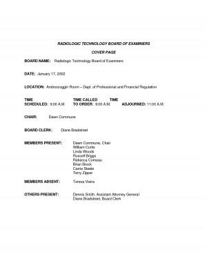 radiologic technologist cover letter