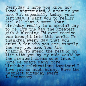 Happy Birthday Babe Love You Quotes ~ Pin by Lisa Hennessey on ...