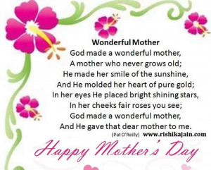 Happy Mother's Day,poem,Inspirational Quotes, Motivational Thoughts ...