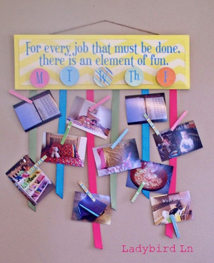 Chore Chart Vinyl to make fun Job Board Marry Poppins Vinyl Quote