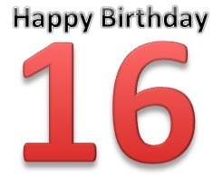 16th Birthday Wishes and Text Messages