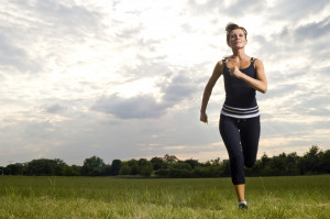 40 year old runner working out, part of a series of sports images.
