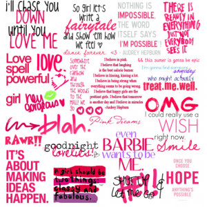 PINK QUOTES - Polyvore