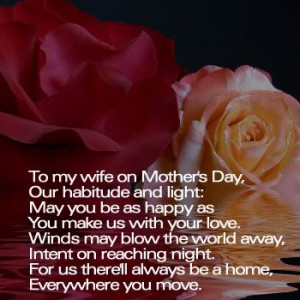 Mothers Day Quotes To My Wife