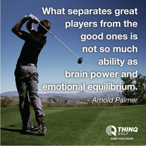 What separates great players from the good ones. #golf #quote
