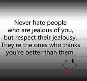 Lucky me, b.c apparently there are a lot of two faced haters & wanna ...