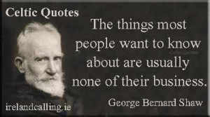 Illustration of George Bernard Shaw quote: