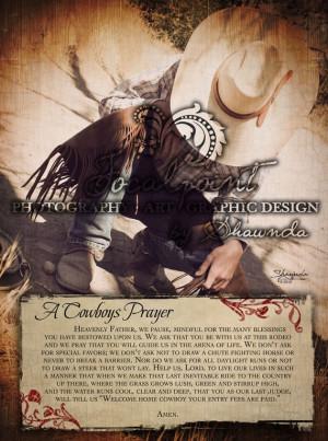Cowboys Prayer 11x14 Print