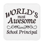 World's Most Awesome School Principal Beverage Coasters
