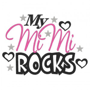 Sayings (3963) My MiMi Rocks Applique 5x7