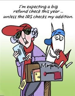 Tax Maxine Taxes April 15th Tax Day Due Refund LOL Funny Laughs ...
