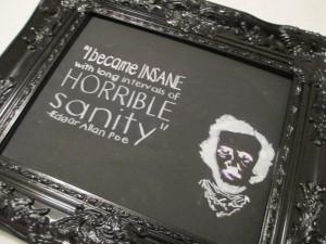 Edgar Allan Poe sanity quote original artwork 11X14 canvas