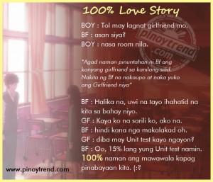 Tagalog Love Story - 100% Love Story