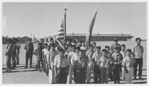 Boy Scouts observe Memorial Day at the Granada War Relocation Center ...