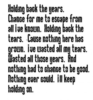 Simply Red - Holding Back The Years - song lyrics, song quotes, music ...