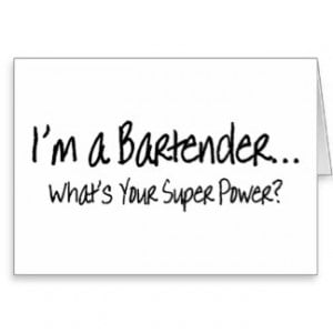 Im A Bartender Whats Your Super Power Cards