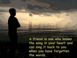 True Friend Quote For Friendship Day Image