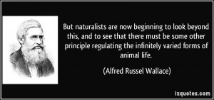 But naturalists are now beginning to look beyond this, and to see that ...