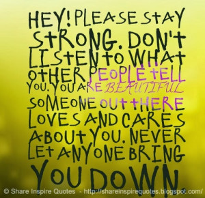... you. Never let anyone bring you down. Website - http://bit.ly/IN0zrX